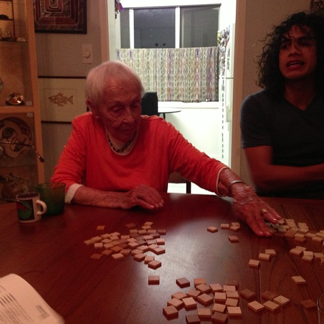 Grandma Backgammon at age 96